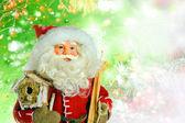 Santa Claus on Christmas background — Stock Photo
