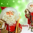 Santa Claus on Christmas background — Stock Photo