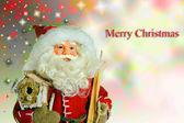 Noel baba noel zemin üzerine — Stok fotoğraf