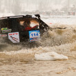 Almaty, Kazakhstan - February 11, 2012. Off-road racing jeeps,  festival, d - Stock Photo