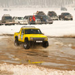 Almaty, Kazakhstan - February 11, 2012. Off-road racing jeeps,  festival, d — Stock Photo