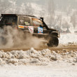 Stock Photo: Almaty, Kazakhst- February 11, 2012. Off-road racing jeeps, festival, d