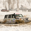 ALMATY, KAZAKHSTAN - FEBRUARY 11  Off-road vehicle JEEP 4x4 during festival - Stock Photo