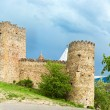 Panorama of  Castle with Church in Caucasus region near Tbilisi, Georgia - Stock Photo
