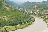 Panoramic view from Narikala Fortress Tbilisi, view to historical part of — Stock Photo
