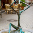 Futuristic sculpture  on the street in the historical district of Tbilisi, — Stock Photo