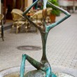 Stock Photo: Futuristic sculpture on street in historical district of Tbilisi,