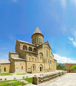 Panorama of old Orthodox cathedral in Mtskheta near Tbilisi - the most fam — Stock fotografie