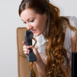 Successful businesswoman talking on the phone at the office .More of this s — Stock Photo #13156206