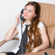 Successful businesswoman talking on the phone at the office .More of this s — Stock Photo #13156253