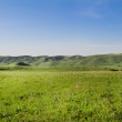 Panorama of  mountain, sky  in Kazakhstan, Almaty. Image at spring - Stock Photo