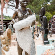 African woman arts and crafts in Cape Town, South Africa - Stock Photo