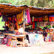 Stock Photo: African traditional market with handmade souvenirs in south africa at the weekend