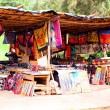African traditional market with handmade souvenirs in south africa at the weekend — Stock Photo