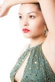 Retrato de mulher bonita na isolada — Fotografia Stock