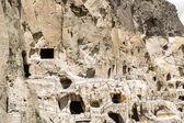 Mountains and medieval cave city-monastery Vardzia,Georgia,Transcaucasus — Stock Photo