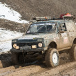 Almaty, Kazakhstan - February 21, 2013. Off-road racing on jeeps, Car competition, ATV. - Stock Photo