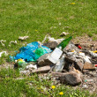 Garbage at a rubbish dump on street. Pollution and Ecology - Stock Photo