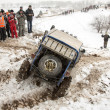 "Stock Photo: Almaty, Kazakhst- February 21, 2013. Off-road racing on jeeps, Car competition, ATV. Traditional race ""Kaskelen gullies"" Cup Republic of Kazakhsttrophy-raid"
