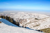Winter mountains in Ak Bulak, Almaty, Kazakhstan, Asia — Stock Photo