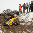 Almaty, Kazakhstan - February 21, 2013. Off-road racing on jeeps, Car competition, ATV. — Foto de Stock