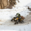 Almaty, Kazakhstan - February 21, 2013. Off-road racing on jeeps, Car competition, ATV. — Stock Photo