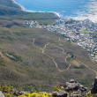 Scenic View in Cape Town, Table Mountain, South Africa  from an aerial perspective - ストック写真