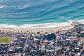 Scenic View in Cape Town, Table Mountain, South Africa from an aerial perspective — Stock Photo