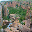 Blyde River Canyon,South Africa, Mpumalanga, Summer Landscape, red rocks and water — Foto Stock #25577571