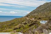 Mys dobré naděje. cape poloostrov atlantský oceán. kapské město. jižní afrika pohled od cape point — Stock fotografie