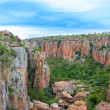 Foto de Stock  : Blyde River Canyon,South Africa, Mpumalanga, Summer Landscape, red rocks and water