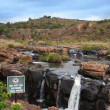Blyde River Canyon,South Africa, Mpumalanga, Summer Landscape, red rocks and water — Foto de stock #25948133