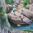 Blyde River Canyon,South Africa, Mpumalanga, Summer Landscape, red rocks and water — Zdjęcie stockowe #25979845