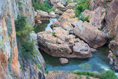 Blyde River Canyon,South Africa, Mpumalanga, Summer Landscape, red rocks and water — Stock Photo