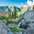 Nature near Big Almaty Lake, Tien Shan Mountains in Almaty, Kazakhstan,Asia at summer — Stock Photo