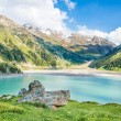 Spectacular scenic Big Almaty Lake, Tien Shan Mountains in Almaty, Kazakhstan,Asia at summer — Stock Photo