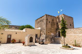 Monastery (friary) in Messara Valley at Crete island in Greece. Messara - is the largest plain in Crete — Stock Photo