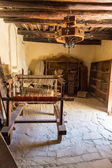 Loom with threads in monastery in Messara Valley Crete, Greece — Stock Photo