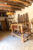 Loom with threads in Museum with artifacts of ancient Greek in monastery in Messara Valley Crete, Greece — Stock Photo