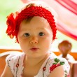 Portrait of year-old adorable child girl — Stock Photo