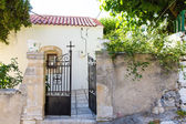 Building Exterior of home in small cretan village in Crete island, Greece. See other pictures from Crete — Stock Photo