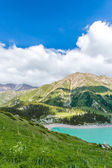 Spectacular scenic Big Almaty Lake ,Tien Shan Mountains in Almaty, Kazakhstan,Asia at summer — Stock Photo