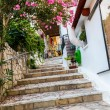 Small cretan village in Crete island, Greece. Building Exterior of home — Foto de Stock