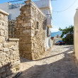 Small cretan village in Crete island, Greece. Building Exterior of home — Stock Photo