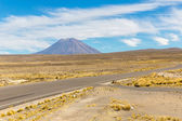 Volcano. The Andes, Road Cusco- Puno, Peru,South America — Stock Photo