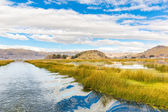 Lake Titicaca,South America, located on border of Peru and Bolivia. — Stock Photo