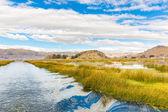 Lake Titicaca,South America, located on border of Peru and Bolivia. — Stock Photo