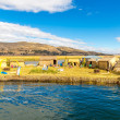 Floating  Islands on Lake Titicaca Puno, Peru, South America — Stock Photo