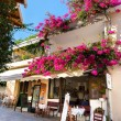 Stock Photo: Street cafe in Small cretvillage in Crete island, Greece