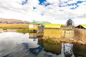 Floating Islands on Lake Titicaca Puno, Peru, South America — Stock Photo